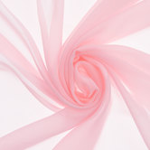 Light Pink Poly Chiffon Fabric