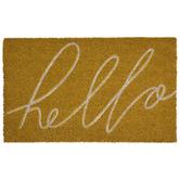 Yellow Hello Doormat