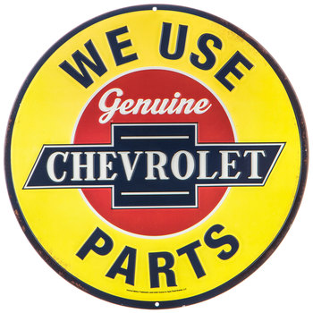 Genuine Chevrolet Parts Round Metal Sign