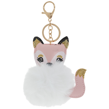 Fox Puff Keychain