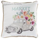 Farmer's Spring Market Pillow