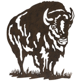 Rustic Bison Metal Wall Decor