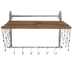 Galvanized Metal Wall Rack