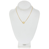 10K Gold Plated Disc Necklace