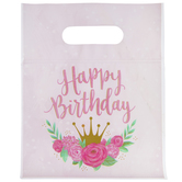 Floral Princess Zipper Bags With Handles