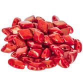Red Opaque Lumi Gemduo Czech Glass Beads - 8mm x 5mm