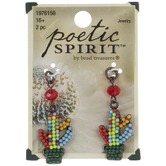 Multi-Color Beaded Cactus Charms