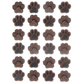 Black & Brown Paw Print 3D Stickers