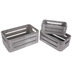 Gray Oval Slotted Wood Crate Set
