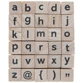 Lowercase Sans Serif Alphabet Rubber Stamps