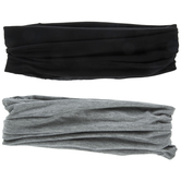 Black & Gray Wide Elastic Headbands