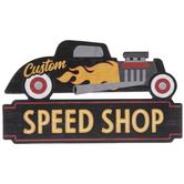 Speed Shop Car Wood Wall Decor