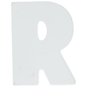 """White Wood Letters R - 2"""""""