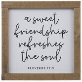 Proverbs 27:9 Wood Decor