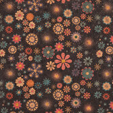 Navy Floral Cork Fabric