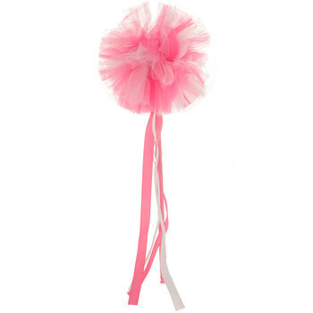 Pink Tulle Puff Wand