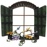 Metal Window With Flower Planter