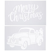 Merry Christmas & Truck Stencils