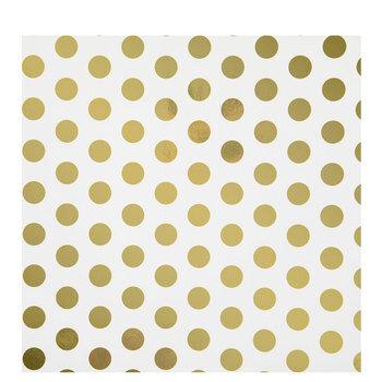 White & Gold Foil Polka Dot Gift Wrap