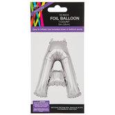 Silver Foil Letter Balloon - A