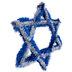 Star Of David Tinsel Wreath
