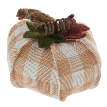 Orange & White Buffalo Check Pumpkin