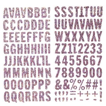 Pink Maggie Glitter Alphabet Stickers