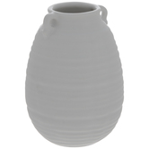 Matte White Ridged Mini Vase