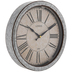 Galvanized Metal Damask Wall Clock