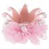 Pink Crown Hair Clip