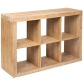 Open Cubes Wood Cabinet
