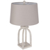 Whitewash Beaded Open Lamp