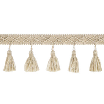 Linen Bead Top Tassel Trim