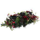 Holly Berry Candle Holder Arrangement
