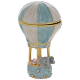 Hot Air Balloon Elephant Jewelry Box