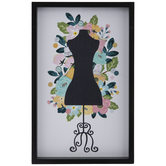 Floral Mannequin Wood Wall Decor