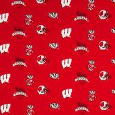 Wisconsin Allover Collegiate Cotton Fabric
