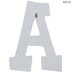 White Letter Wood Wall Decor - A
