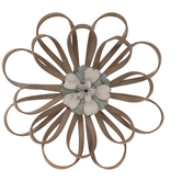 Loop Petal Flower Wood Wall Decor - Small