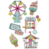Carnival 3D Stickers