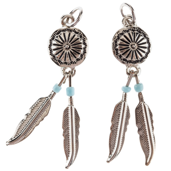 Concho & Feather Pendants With Beads