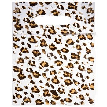 Black Leopard Print Zipper Bags