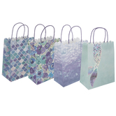 Mermaid Scale & Floral Craft Gift Bags