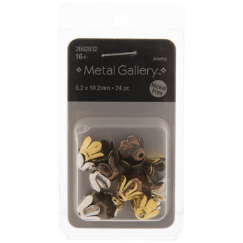 Smooth Flower Bead Caps