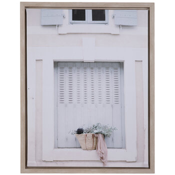 Basket On Windowsill Canvas Wall Decor