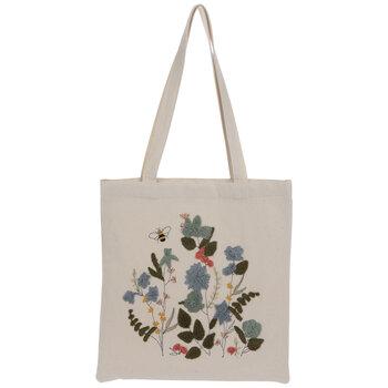 Flowers & Bee Tote Bag