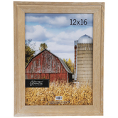 "Antique Brown Wood Wall Frame - 12"" x 16"""