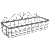 Gray Swirl Metal Wall Basket - Large