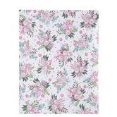 "Pink Floral Clusters Scrapbook Paper - 8 1/2"" x 11"""