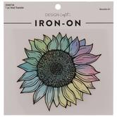 Rainbow Ombre Sunflower Iron-On Applique
